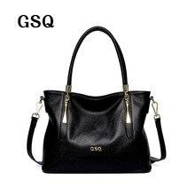 Gsq bolso de las mujeres de moda de cuero genuino de la alta calidad mujeres de cuero messenger bags bolsa de hombro famoso diseñador de marcas de asas