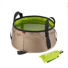 New Upgrade Outdoor Foldable Camping Bucket 10L Picnic Waterproof Folding Bucket