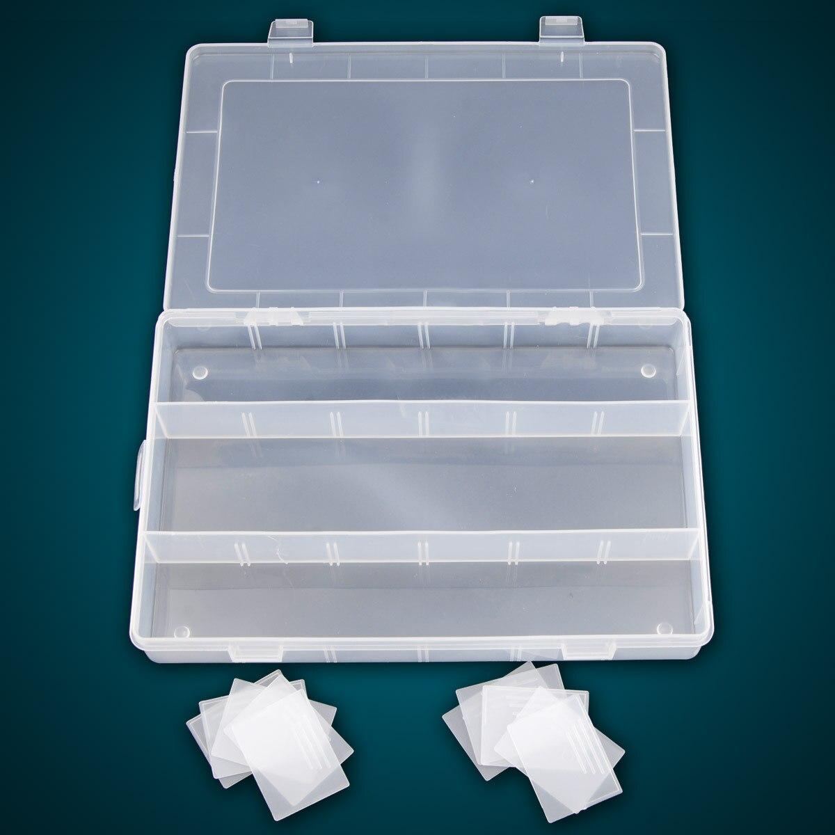 13 большой решетки Пластик прозрачный съемный Бесплатная Комбинации шкатулка/хранения/ящик для хранения