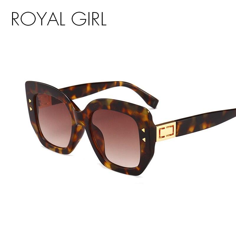 ROYAL GIRL remaches cuadrados gafas de sol mujer marca diseñador ...