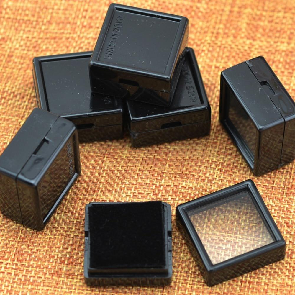 De Bijoux 35pcs Black Earring Studs,Jewelry Bead,Trinket Plastic Case Box Showcase Tray,Gift Box 1.18x1.18