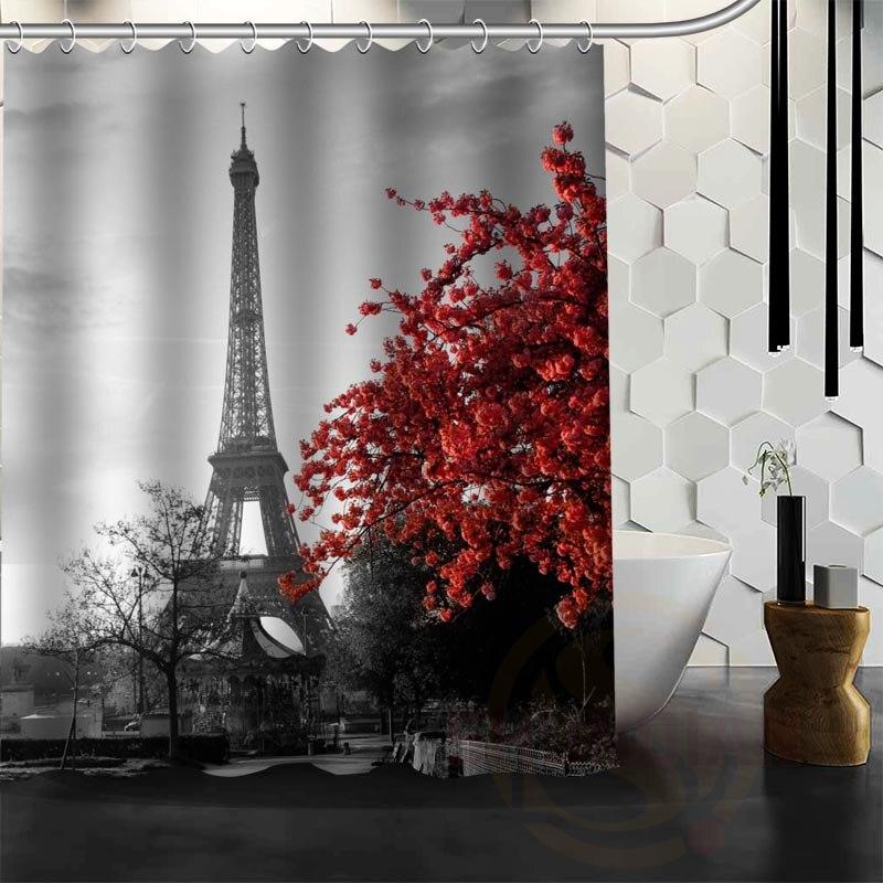 Best Nice Custom Eiffel Tower Shower Curtain Bath Curtain Waterproof Fabric  For Bathroom MORE SIZE WJY