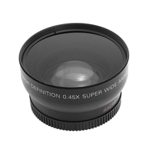 лучшая цена Hd 52Mm 0.45X Wide Angle Lens With Macro Lens For Canon Nikon Sony Pentax 52Mm Dslr Camera