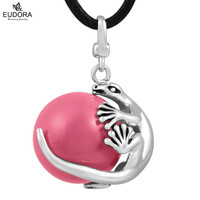 Guardian Angel Pendant Silver Pregnancy Eudora Harmony Ball Necklace Mexican Bola Angel Baby Caller Mother Child