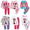 Primavera Otoño conjunto TopsPants Minnie Mouse Punto de impresión de Dibujos Animados Niños Niñas Amor Ropa de Dormir Pijama Traje Ropa de Dormir