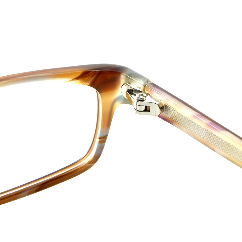c53d85228cf Gmei Optical Glasses Amber Rectangle Acetate Full Rim Prescription  Eyeglasses Frame Spectacle for Eyewear Fashion T8086 Optical-in Eyewear  Frames from ...