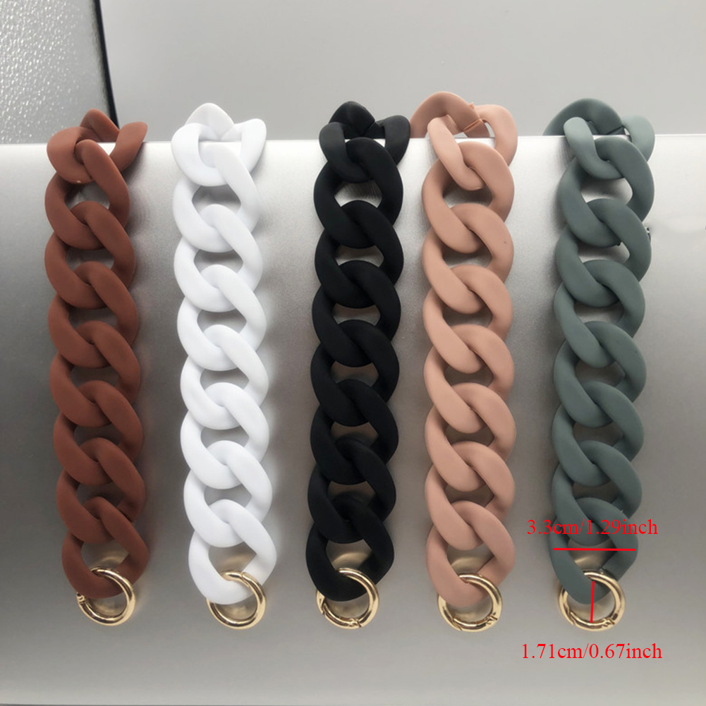 1PC Detachable Shoulder Bag Strap Acrylic Resin Bag Chain Handles DIY Replacement Solid Color Wide Bag Accessories 30cm/41cm