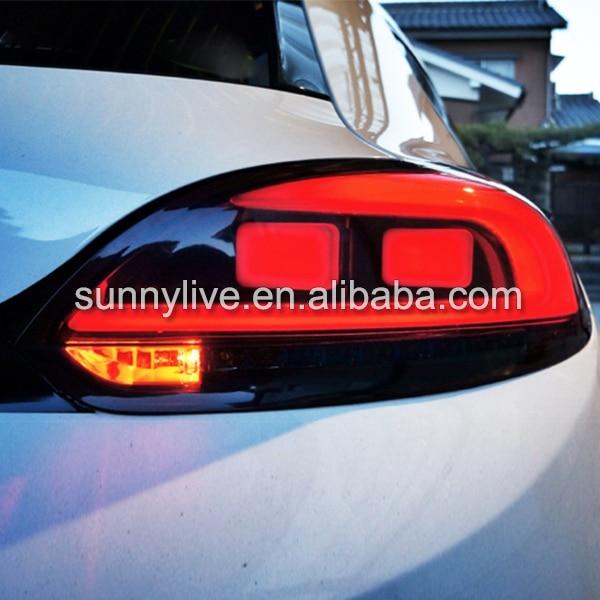 VW 2009-2014 Scirocco üçün LED Quyruq İşıq Arxa - Avtomobil işıqları - Fotoqrafiya 2