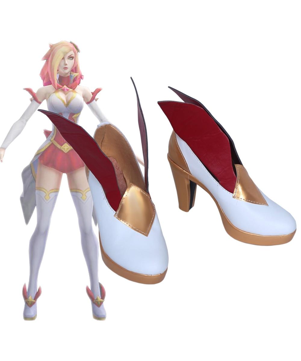 LOL le chasseur de primes Miss Fortune Cosplay bottes chaussures sur mesure
