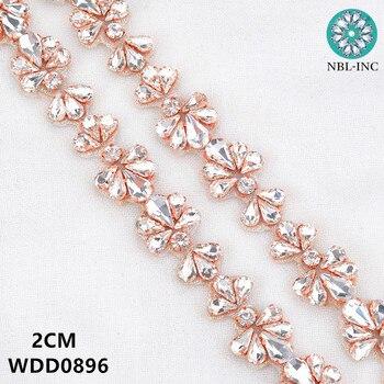 (5 yards) bridal beaded sewing silver crystal rhinestone applique trim for wedding dress  WDD0896
