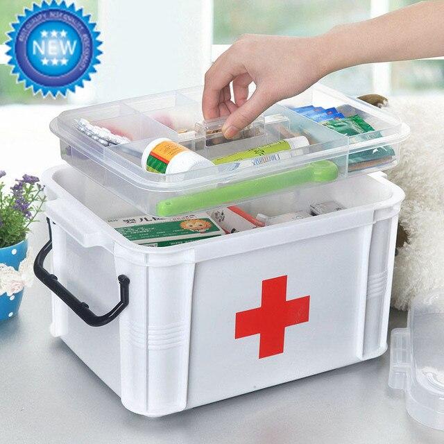 Многослойные Семейной Медицины Пластика Медицинские Поле Первой Медицинской Помощи Хранения Коробка Для Хранения Медицинских