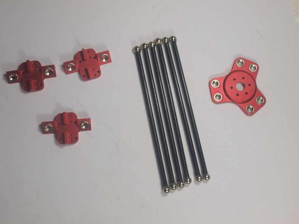 Reprap Delta Rostock mini Kossel 3d printer aluminum magnetic effector carriage 300mm carbon Diagonal push rods full kit