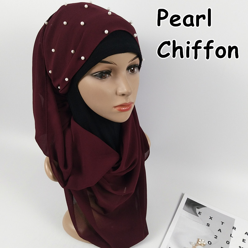 D12 High quality pearl bubble chiffon hijab   wrap   shawls women   scarf     scarves     wrap   headband long 180*75cm 10pcs/lot