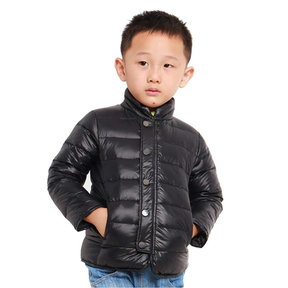 Giá thấp chế biến 2-7 năm chàng trai cô gái mùa đông xuống Áo Khoác 90% màu trắng vịt xuống trẻ em xuống trẻ em của parkas mùa đông Ấm Áp quần áo