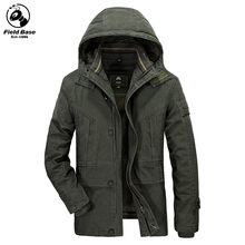 Winter Jacket Men Thicken Warm Parkas Casual Cotton Jackets With Liner Male Hooded Solid Winter Coats Plus Size M-5XL FL-8856