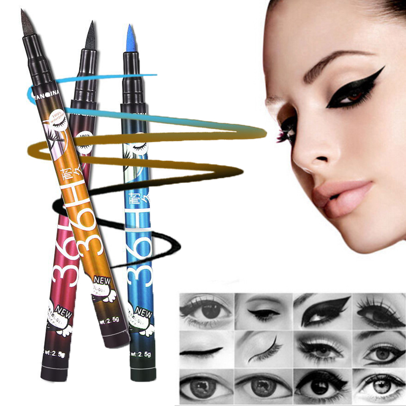 36H Pencil Eye Makeup YANQINA Long Lasting 4 Color Choose Cosmetics Waterproof Liquid Eyeliner Pen NEW Eye Liner