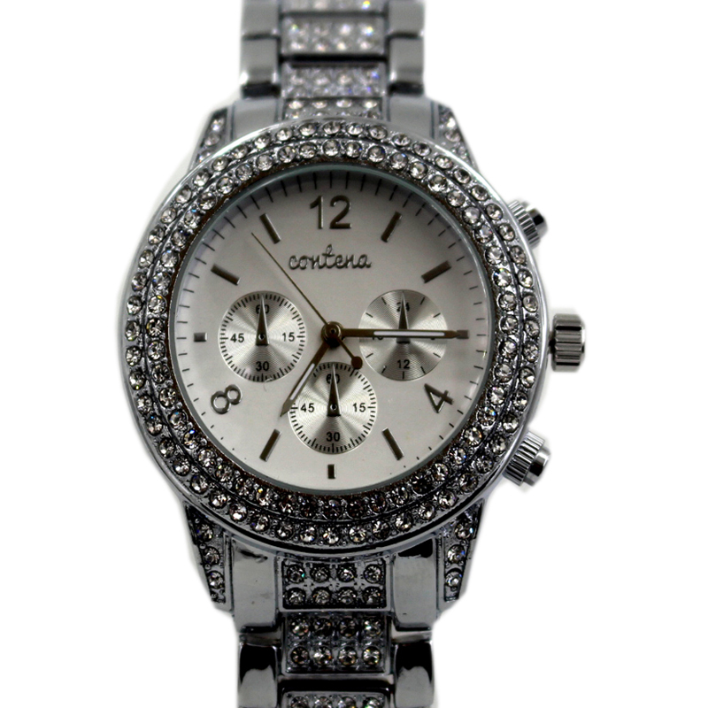 Prix pour Dames De Mode Montre À Quartz Femmes Strass Occasionnels Robe Femmes de Montre Argent Or Rose Cristal reloje mujer 2017 montre femme