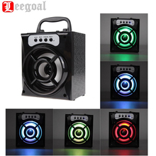 MS-132BT Big Portable Bluetooth Wireless Speaker Bass Powerful Subwoofer Outdoor Music Playing Box USB LED TF FM Radio Speaker