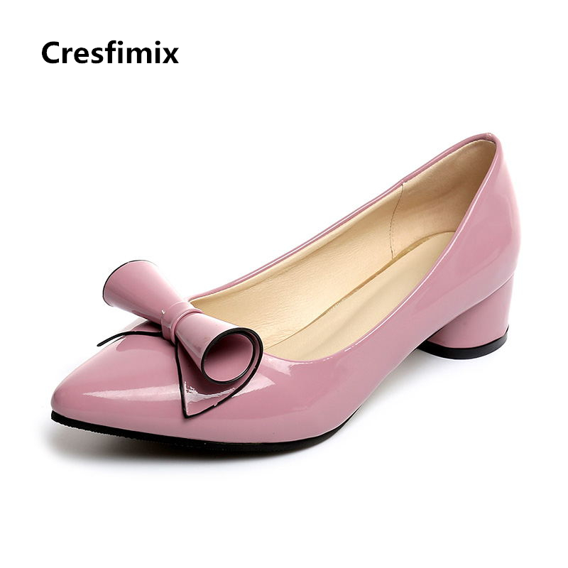 Cresfimix women fashion high quality pu leather high heel shoes lady pointed toe red high heel pumps female spring summer shoes cresfimix women fashion
