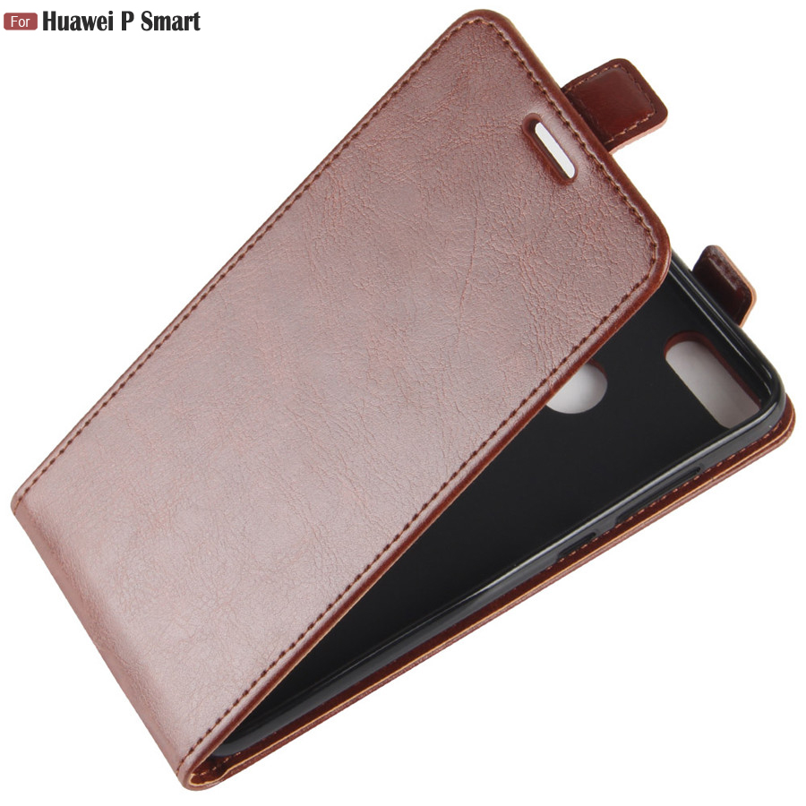 huawei <font><b>P</b></font> <font><b>Smart</b></font> Psmart Case <font><b>5.65</b></font> inch Top quality Leather Vertical Book Cover Flip Case on for Huawei Psmart <font><b>P</b></font> <font><b>Smart</b></font> FIG-LX1 Case image