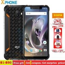 HOMTOM ZOJI Z33 cep telefonu Çift 4G 3 GB 32 GB IP68 Su Geçirmez Shockproo 4600 mAh Yüz Parmak Izi KIMLIK 5.85 ''Android 8.1 Sma...