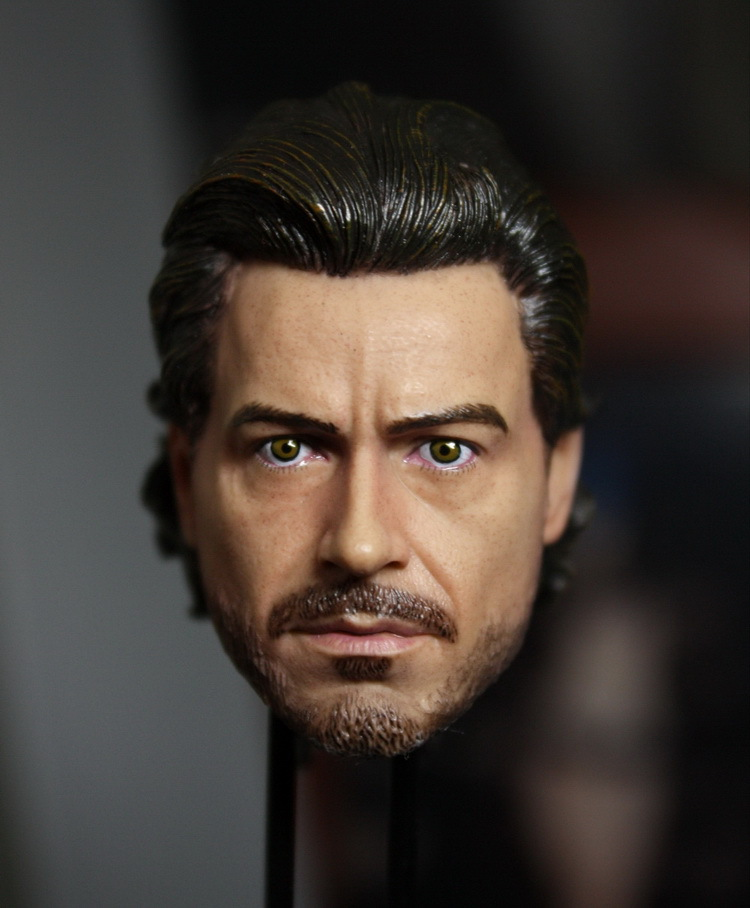 ФОТО 1/6 Sherlock Holmes Robert Downey Jr. headsculpt for DIY12in doll Parts Male head shape ,Not include the body and clothes