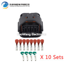 цена на 10 sets 12 Pin waterproof connector female with terminal DJ7121-1.2 / 2.2-21 12P car connector