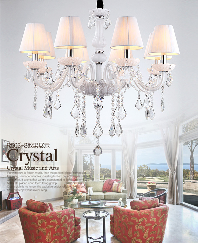 6 arm home lighting crystal mini chandelier led candle chandeliers 6 arm home lighting crystal mini chandelier led candle chandeliers with fabric lamp cover modern lighting in chandeliers from lights lighting on aloadofball Gallery