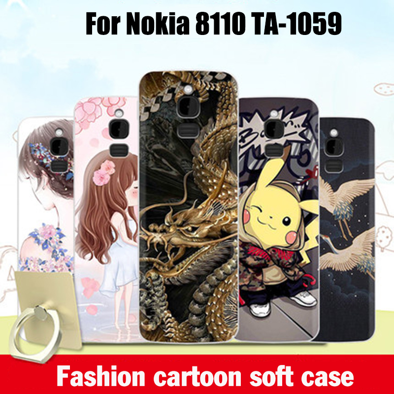 For <font><b>Nokia</b></font> <font><b>8110</b></font> <font><b>4G</b></font> Case Cover Silicone Soft TPU for <font><b>Nokia</b></font> <font><b>8110</b></font> <font><b>4G</b></font> cartoon Patterned Phone Case 2.4