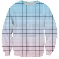 c7fd6f4c6e2 Newest Colorful Crewneck Blue Pink Sweatshirt Scene Of Clouds Vibrant  Jumper Pullover Men Women Hoodies Unisex