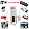 2016 New Arrival Free shipping! New Handheld Mini FM Wireless Microphone Condenser Mic for Megaphone Loudspeaker