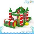 Biggors inflável Castelo inflável da Decoração Do Natal Do Partido Dos Miúdos a Jogar Ao Ar livre Curso de Obstáculo Corrediça Inflável Combo