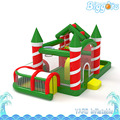 Inflatable Biggors Christmas Decoration Bouncy Castle Kids Party Outdoor Playing Inflatable Slide Obstacle Course Combo