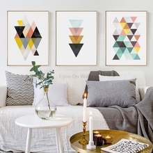 Здесь можно купить  Nordic Geometric Poster Print Scandinavian Canvas Painting For Living Room Wall Art Pictures Modern Posters Home Decor No Frame  Home Decor