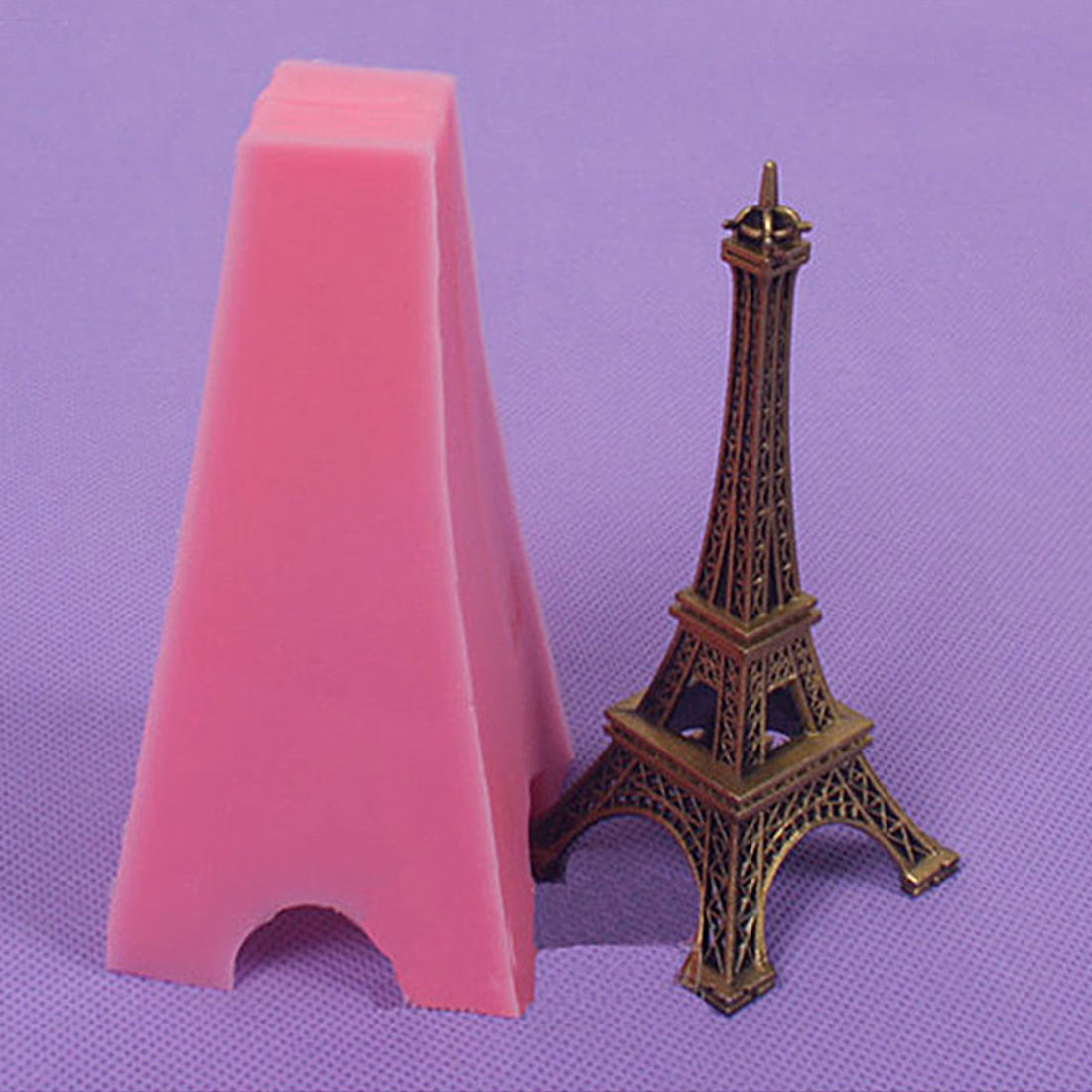 Hot Sale Eiffel Tower 3D Shape Silicone Mold Cookie Fondant Cake Chocolate Pudding Mould Diy Candy Pastry Baking