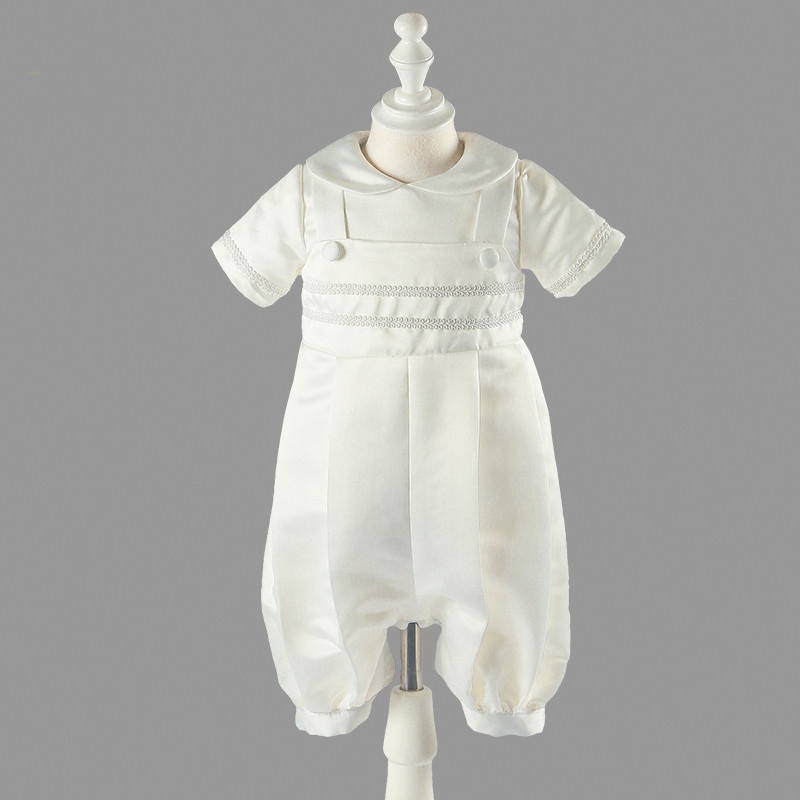 New Vintage Infant Gown Baby Boys Baptism Dress Ivory High