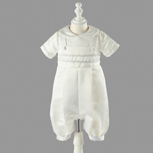 New Vintage Infant Gown Baby Boys Baptism Dress Ivory High Quality Christening Gown Size 0 3 6 9 12 Months(China)