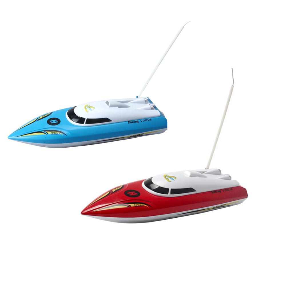 MAHA 10 inch Mini RC Boat Radio Remote Control RTR Electric Dual Motor Toy Colour:Blue/red happy cow 777 218 remote control mini rc racing boat model