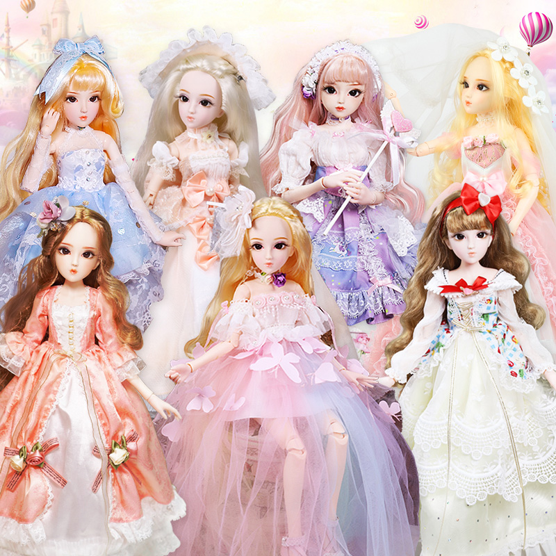 1 4 BJD Dolls Princess New Arrival SD Dolls With Outfit Elegant Dress Wigs Shose Hat