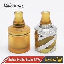 Volcanee coppervape spica hélice estilo rta tanque curto 2ml capacidade ss316 ultem pei para spica pro mtl rta ecig vape tanque atomizador