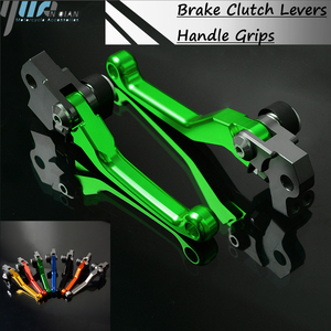 Image 1 - 2018 New CNC aluminum Pivot Clutch Brake Lever Handle Grips For Kawasaki KX80 2000 2018 2014 2015 2016 2017 Dirt Bike