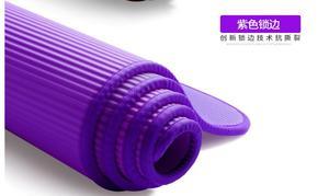 Image 5 - 10MM Extra spessi 183cmX61cm NRB tappetini yoga antiscivolo per Fitness Pilates insapore palestra cuscinetti per esercizi con bende