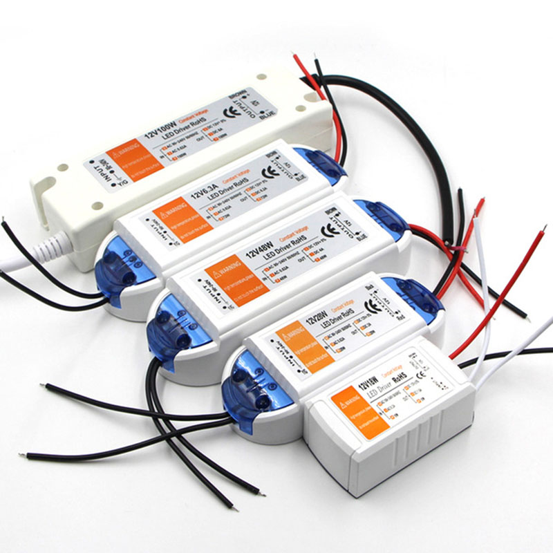 DC12V 18 Вт 28 Вт 48 Вт 72 Вт 100 Вт Светодиодный драйвер для светодиодов источник питания с постоянным током напряжение управления световые трансформаторы для светодиодной ленты Трансформаторы систем освещения      АлиЭкспресс