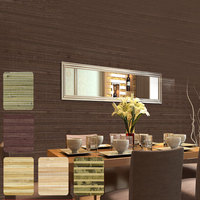 Natural Weave Straw Reed stripe Plant Wallpaper for Kids Room TV Background Study Room Chinese Style Walls paper Wallcoverings