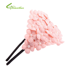 1PCS 2017 Fashion Design Baby Girls Toddlers Kids Infants Flower Headband Hairband Hair Accessories Wear Pearl Flower Hair Bands