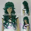 5983Q>>>>>big  wavy fluffy layered hair wig women green cosplay party wig synthetic