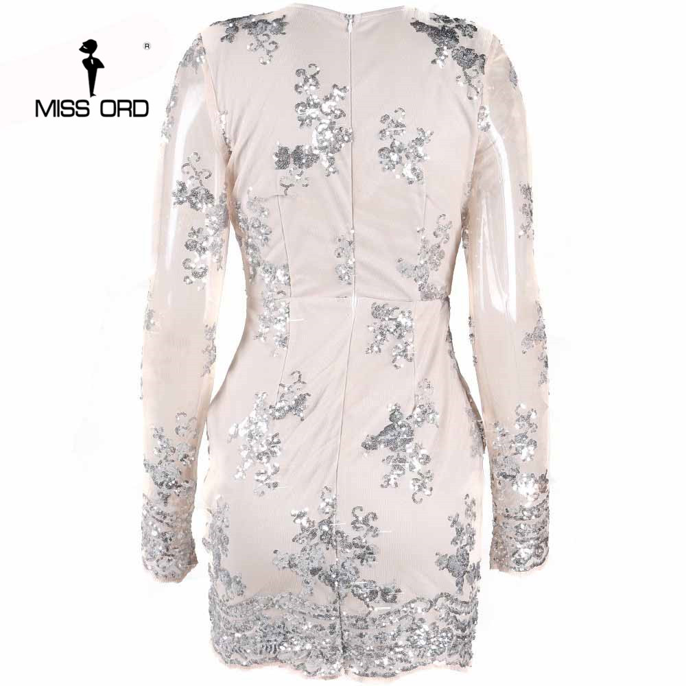 afcd214a Free Shipping Missord 2018 Sexy deep v long sleeved tight retro sequin Dress  FT3580-in Dresses from Women's Clothing on Aliexpress.com | Alibaba Group