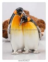 Penguin Jewelry Box Wholesale Penguin Animal Trinket Box Novelty Penguin Ring Box Made in Metal Pewter