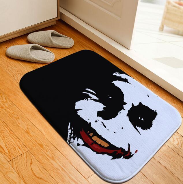 Tappetino da bagno Batman Joker Stampato Tappeto Wc Flanella Tappeto Slittamento non Bath Tappeto Assorbente Tappetino Bagno Tappetino tappeto 40x60 cm Personalizzato