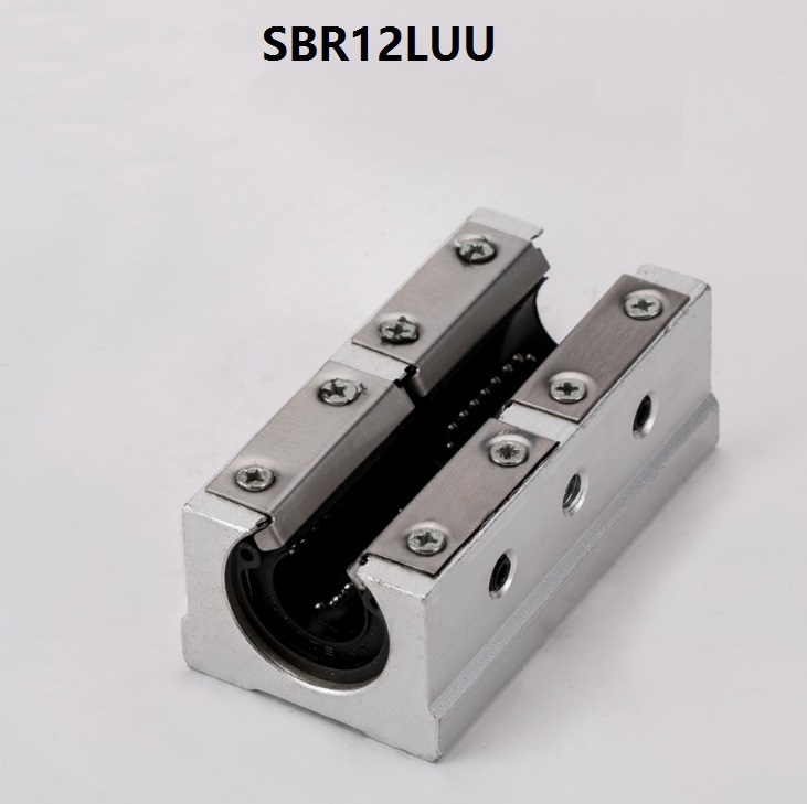 4pcs/lot SBR12LUU Long Pressing plate type 12MM Linear case Linear open type slide unit linear guide cnc router 3d printer parts
